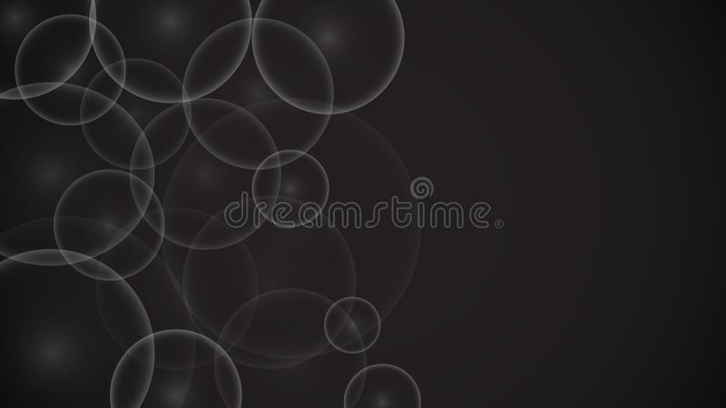 Textur av olika härliga luftiga ljusa bubblor för genomskinligt abstrakt unikt genomskinligt runt ljus, en kamel på en svart back vektor illustrationer