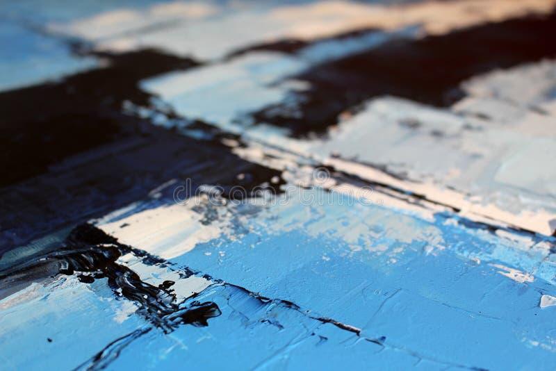 Textur av olje- målning, vintersinnesrörelser fotografering för bildbyråer
