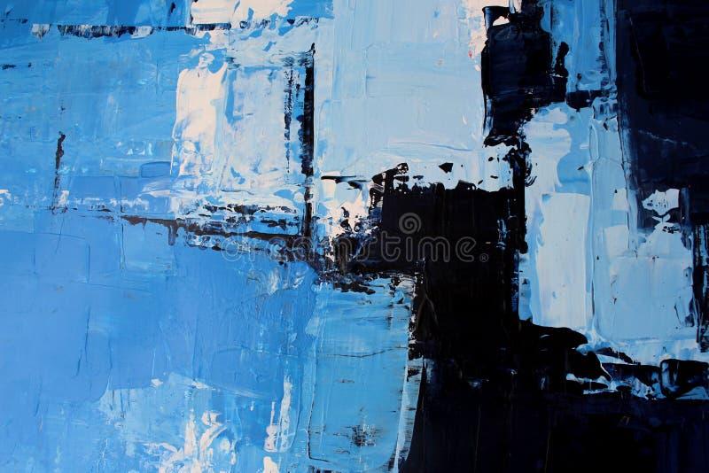 Textur av olje- målning, vintersinnesrörelser arkivbilder