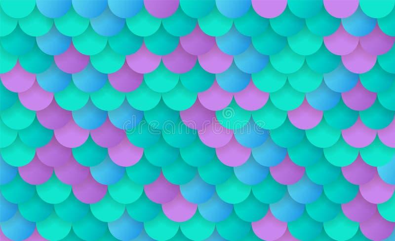 Textur av sjöjungfruskalan arkivfoton