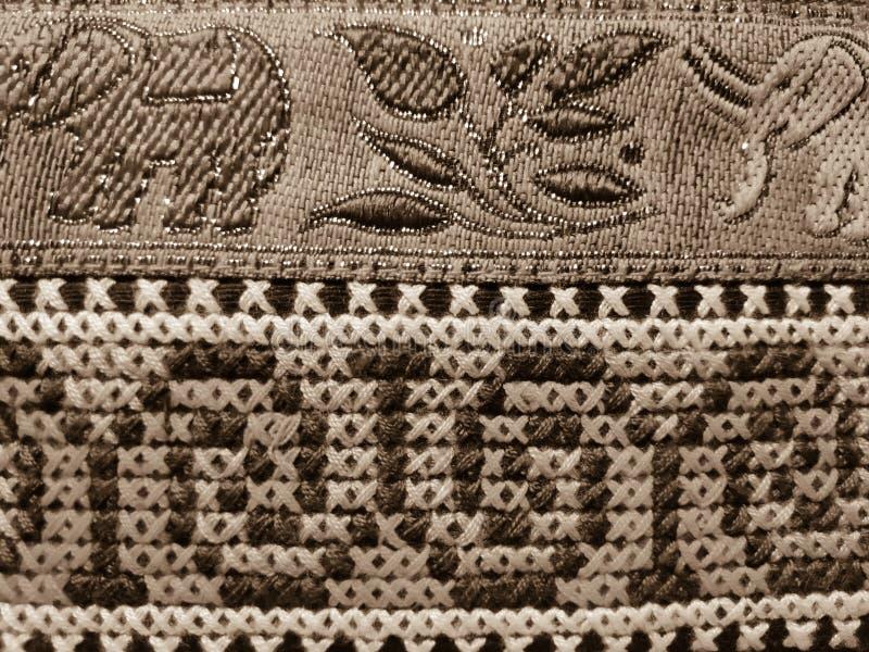 Textur av textilpåse royaltyfria foton