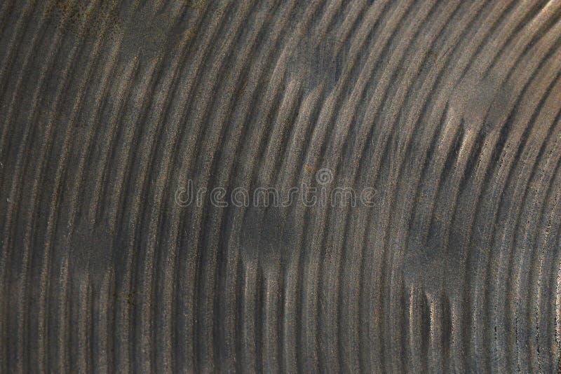 Textur av tungt - den använda bronshanden bultade hihatcymbalen royaltyfria foton