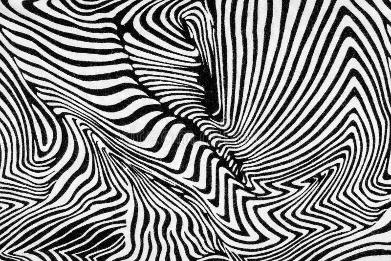 Textur av tyg gör randig sebran arkivbilder