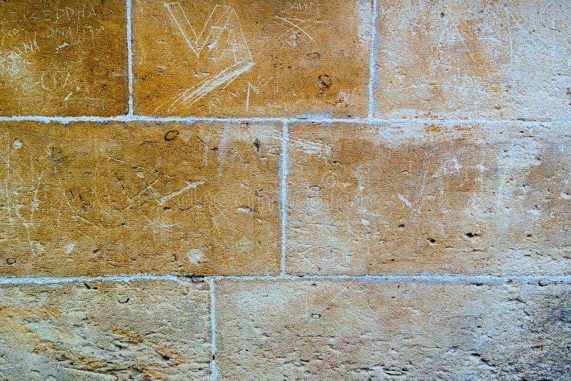 Textur av väggen i den gamla staden arkivfoto