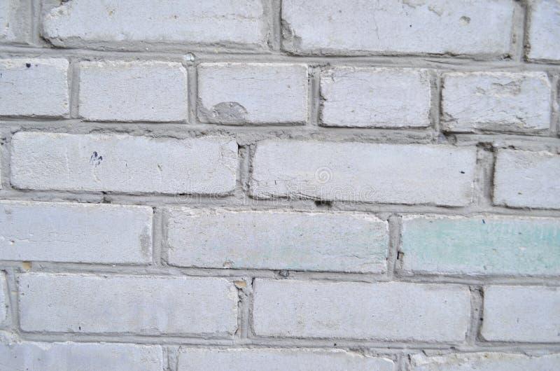 Textur av vit tegelsten arkivfoto