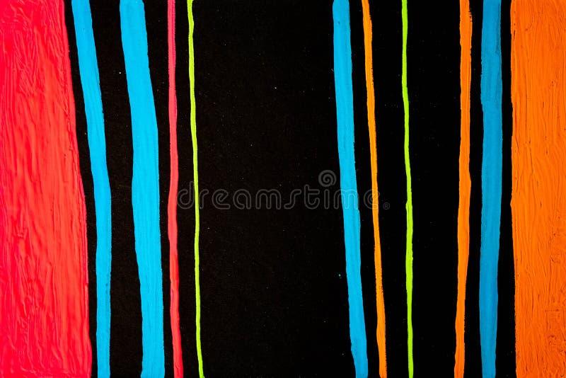 Textur, bakgrund och färgrik bild av en original- abstrakt målning royaltyfria bilder