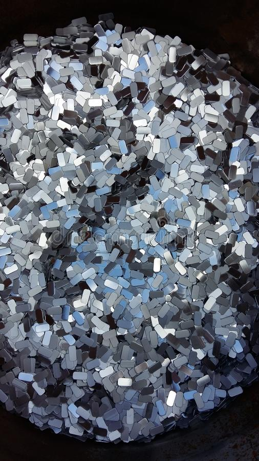 Textur de plata de aluminio fotografía de archivo