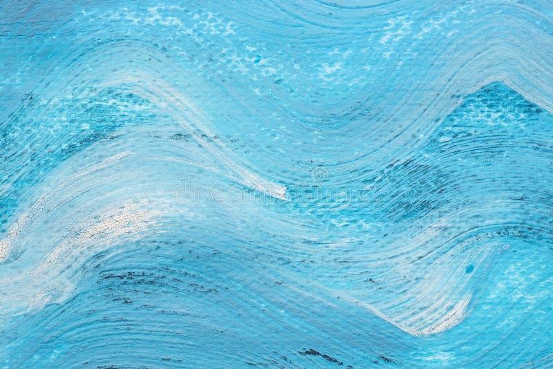 Textur för bakgrund för blått för vågmodell vattenfärg målad fotografering för bildbyråer