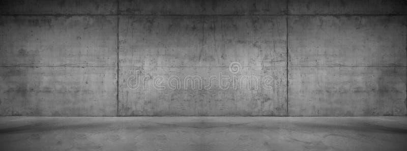 Textur för bakgrund för mörk betongväggpanorama bred modern royaltyfri fotografi