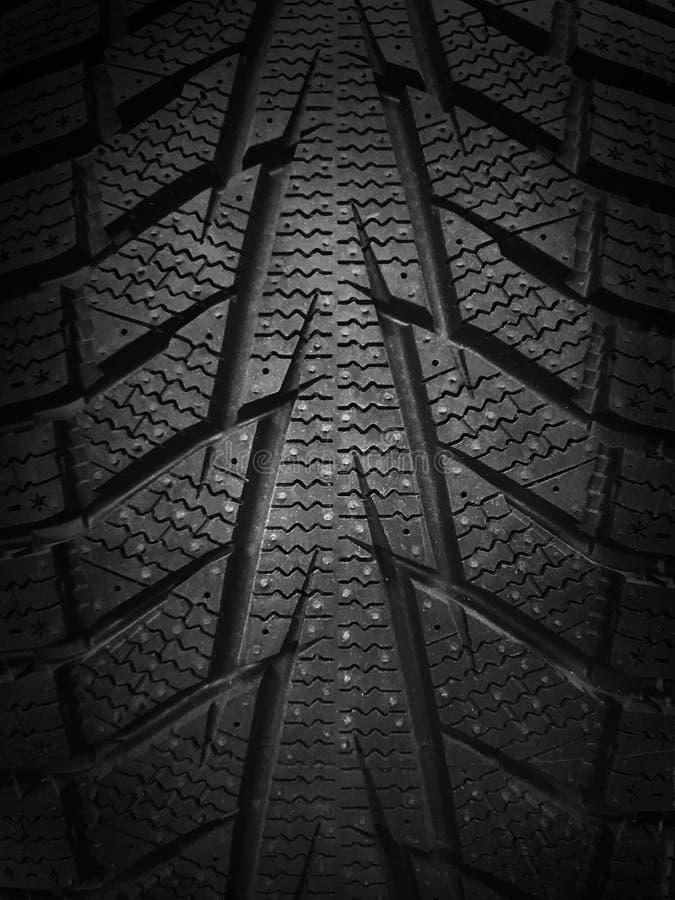 Textur för beskyddande för bilvintergummihjul royaltyfri foto