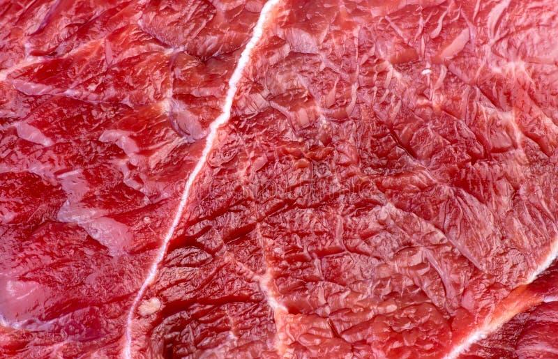 Textur för Closeupmakrobakgrund av rött nötköttlammkött fotografering för bildbyråer