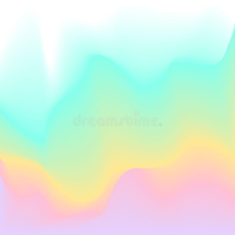 Textur för flöde för lutning för palett för pastellfärgad färg för vårsumemr suddig mjuk slät vektor illustrationer
