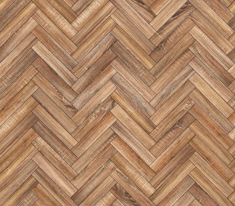 Textur för golv för naturlig parkett för fiskbensmönster sömlös arkivbild