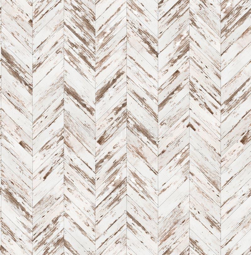 Textur för golv för parkett för sparre gammal målad sömlös arkivfoto