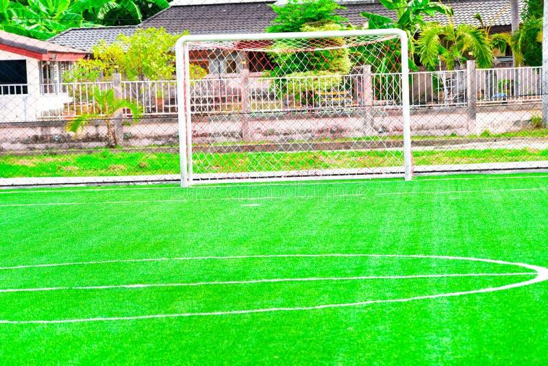 textur för green för gräs för bakgrundsfältfotboll royaltyfri fotografi