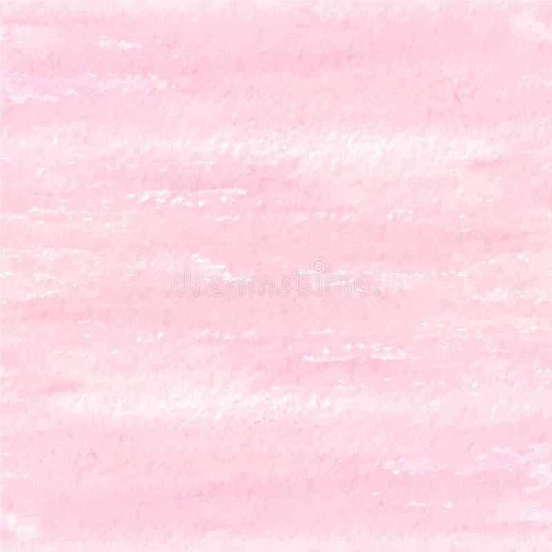 Textur för grunge för vektorvattenfärg rosa royaltyfri illustrationer