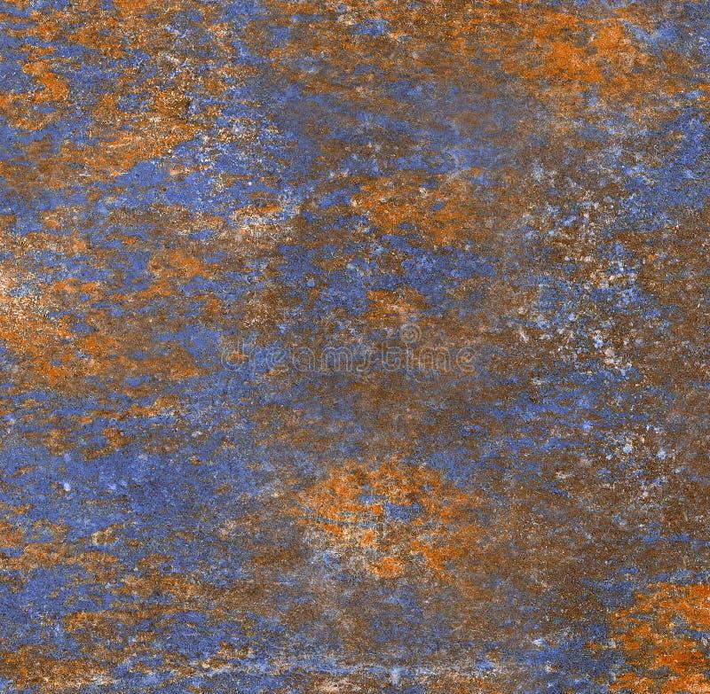 Textur för Grungeväggbakgrund, apelsin med blått färgar marmorstenbakgrund för golvtegelplattor arkivbild