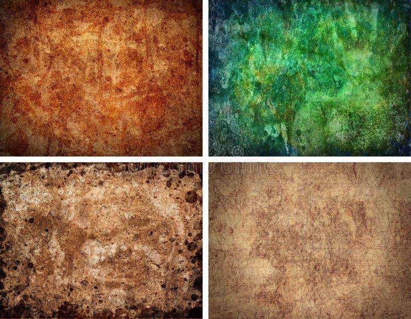 textur för hög upplösning för 4 bakgrunder set vektor illustrationer