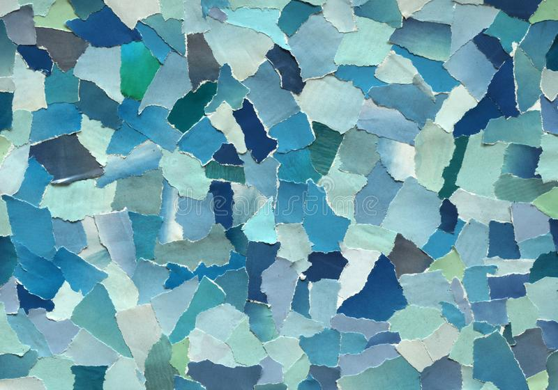 Textur för himmelblått av sönderrivet papper fotografering för bildbyråer