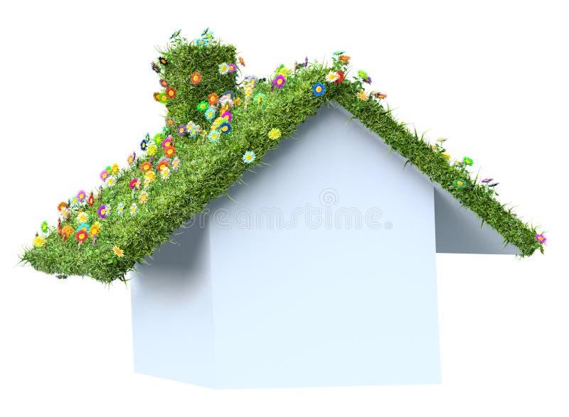 textur för hus för eco för begreppsdesign royaltyfri illustrationer
