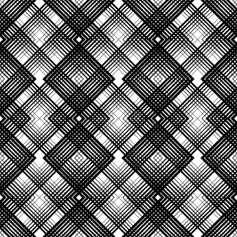 Textur för kontroller för inpackningspapper seamless tartan för modell Vektor b stock illustrationer