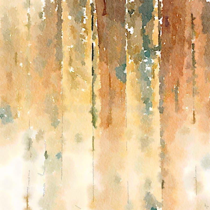 Textur för korn för bakgrundsvattenfärg wood stock illustrationer