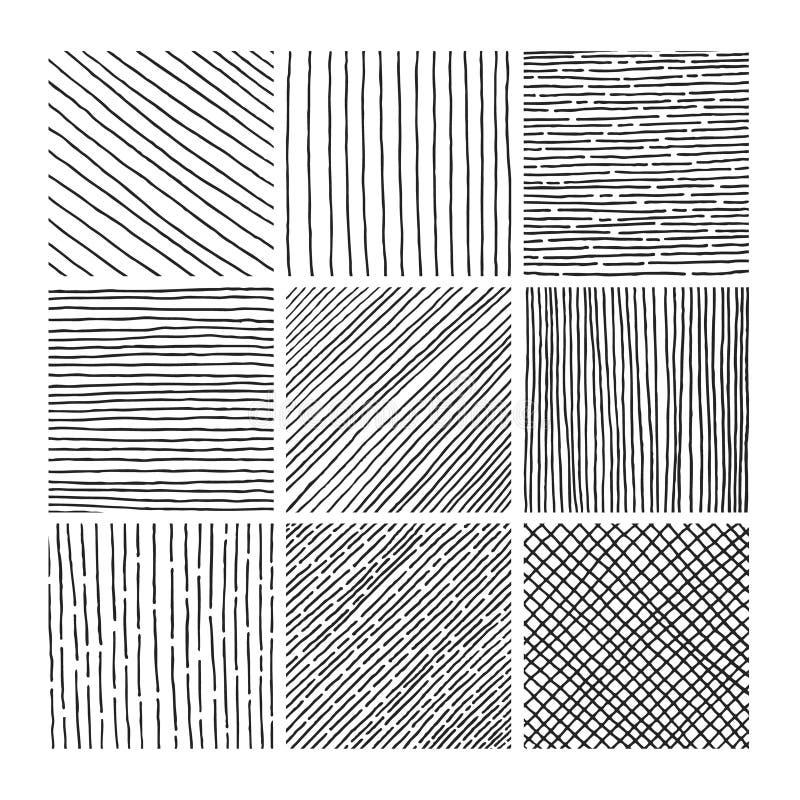 Textur för lucka för vektorsamlingsfärgpulver hand dragen vektor illustrationer