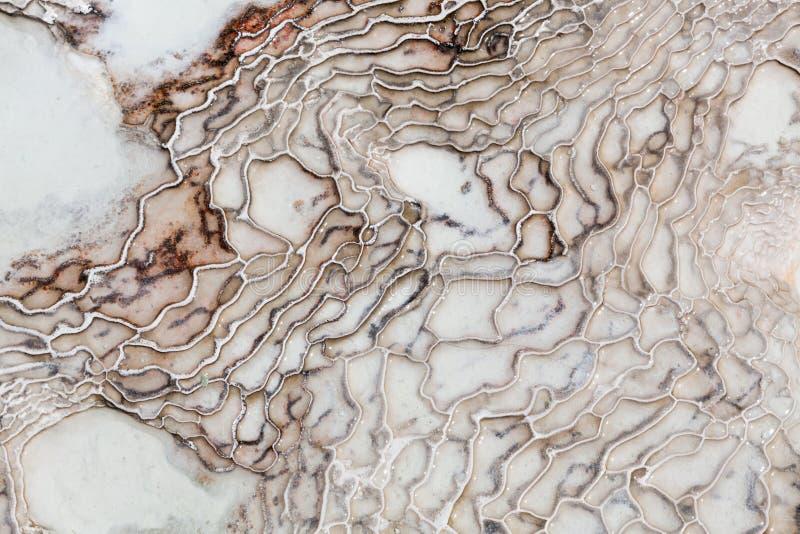 Textur för mineraler för Pamukkale kalkonjärn royaltyfria bilder