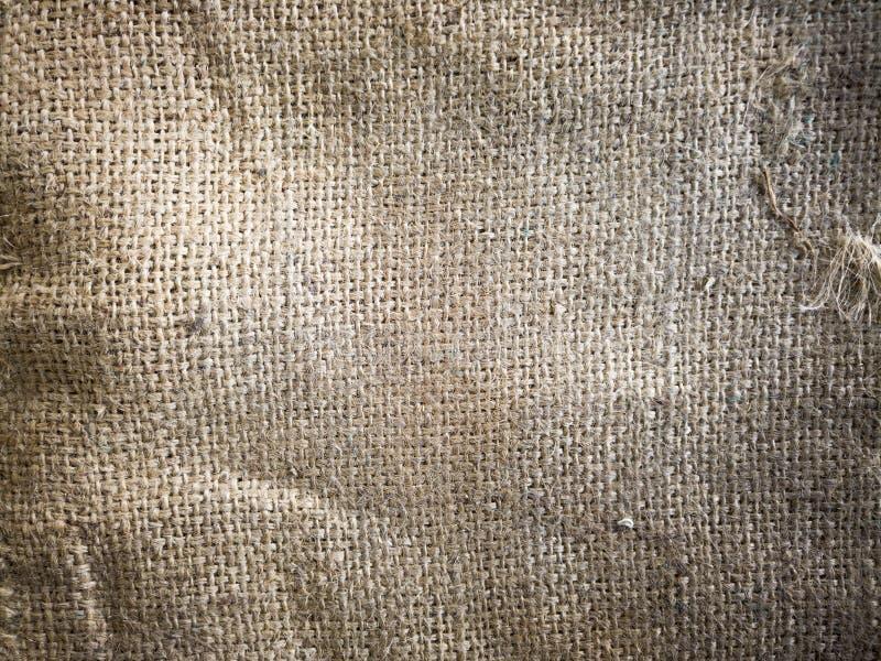Textur för närbildtyglinne, säckvävnaturtextur royaltyfri fotografi