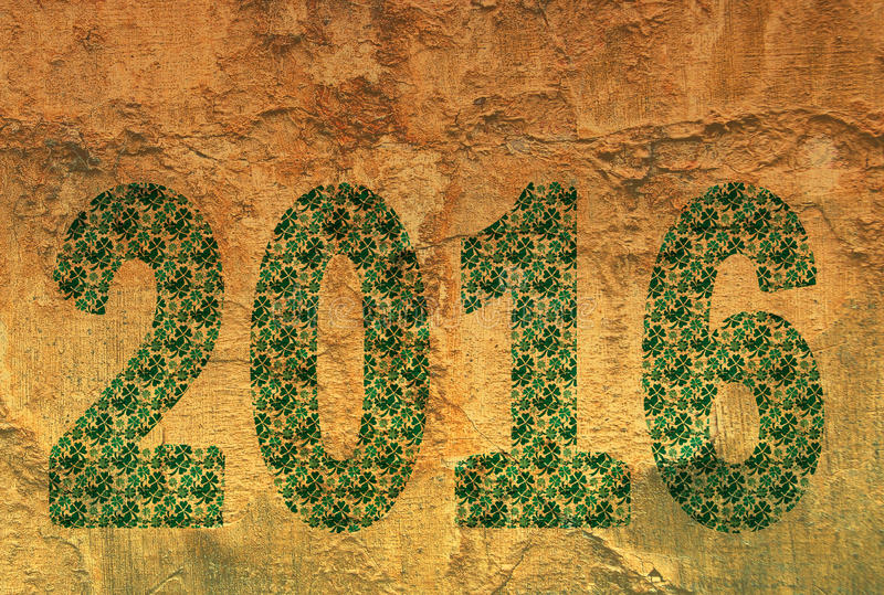 Textur 2016 för nytt år arkivfoto