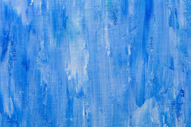 Textur för olje- målarfärg, blå bakgrund för abstrakt begrepp arkivfoto