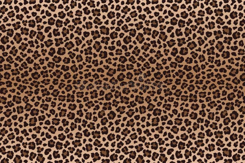 Textur för päls för leopard för mörk brunt prickig vektor vektor illustrationer