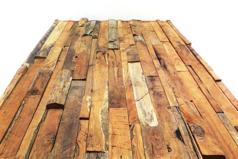 Textur för planka för timmerträbrunt royaltyfria foton