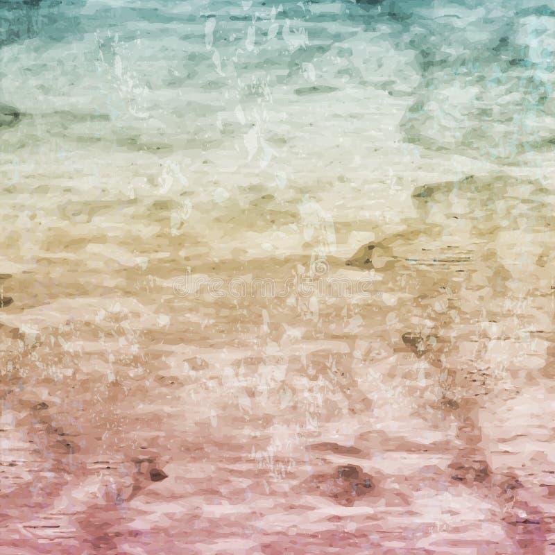 Textur för retro tappning för Grunge trä, vektorbakgrund vektor illustrationer
