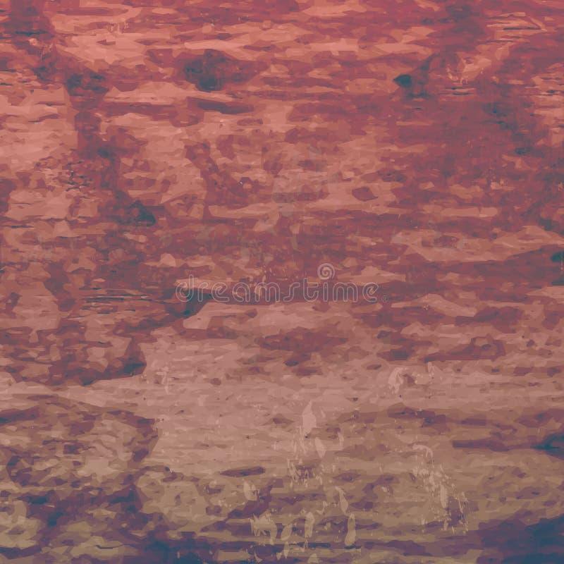 Textur för retro tappning för Grunge trä, vektorbakgrund Abstrakt begrepp stock illustrationer