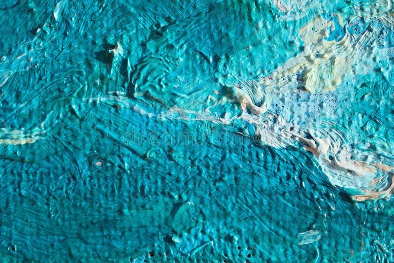 Textur för slut för olje- målning övre med borsteslaglängder royaltyfria bilder