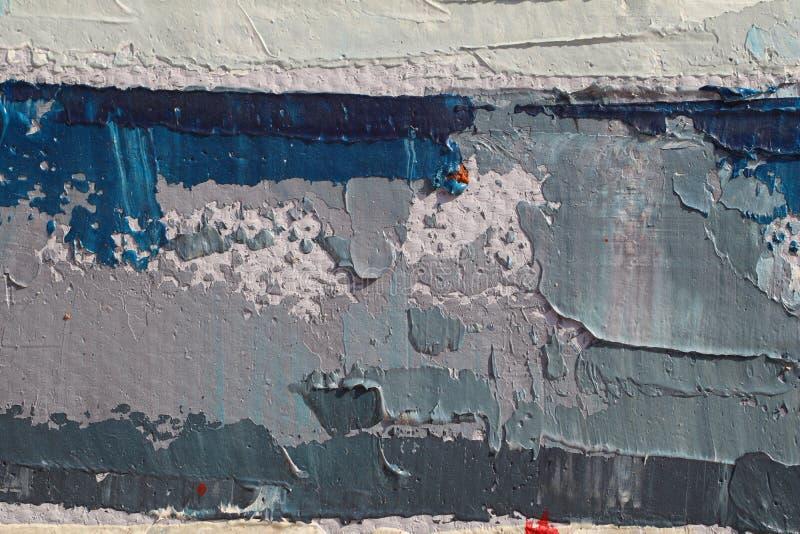 Textur för slut för olje- målning övre med borsteslaglängder royaltyfri foto