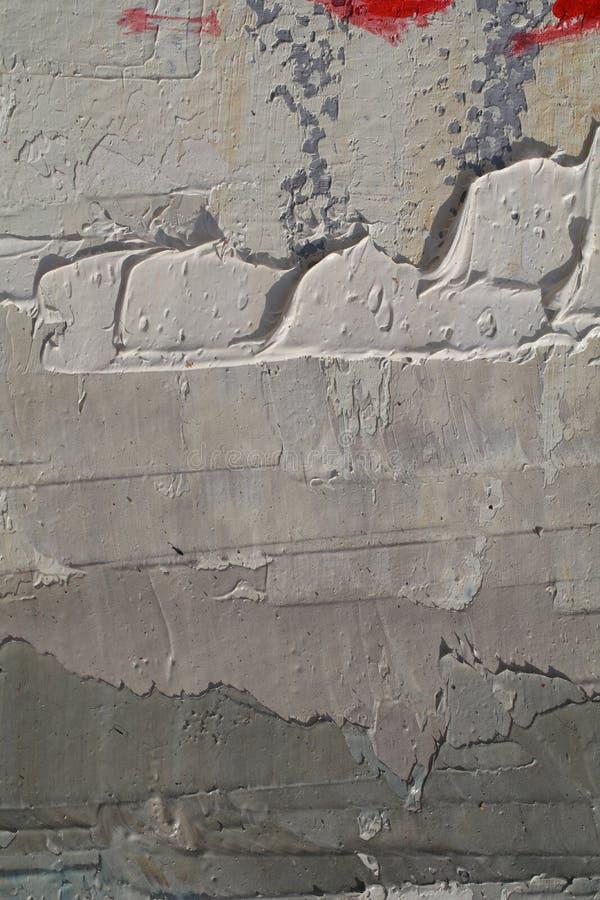Textur för slut för olje- målning övre med borsteslaglängder royaltyfria foton
