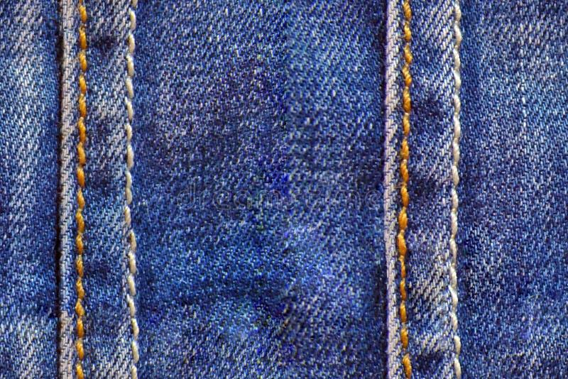 Textur för Tileable sömlös jeanstorkduk royaltyfri foto