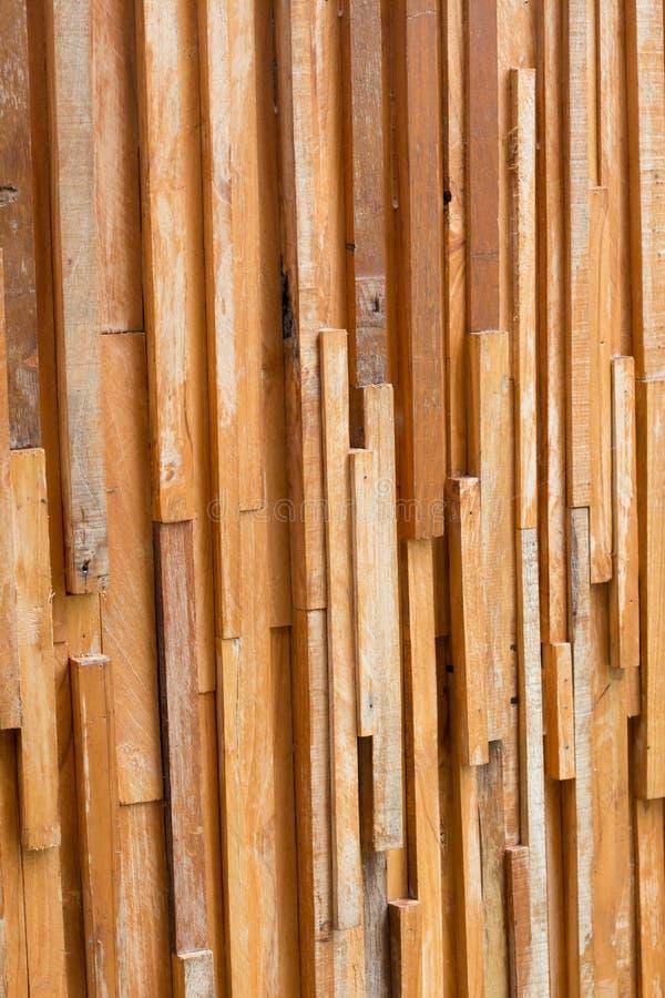 Textur för vägg för timmerträbrunt pinne använd royaltyfri fotografi