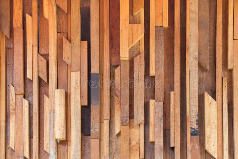 Textur för vägg för timmerträbrunt pinne använd arkivfoto