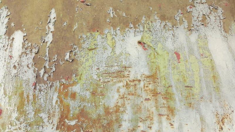 Textur för vägg för gammal tappningfärg sjaskig av det övergav huset arkivfoto