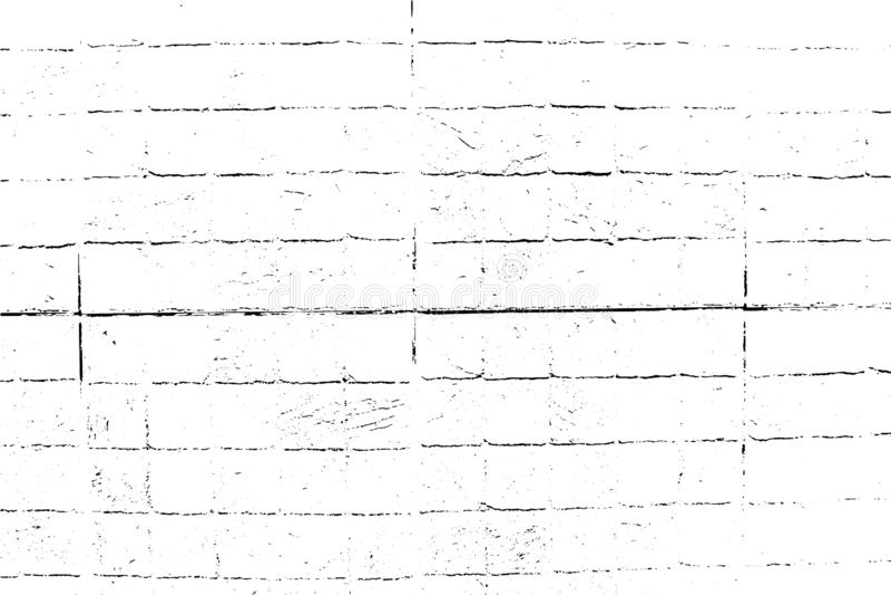 Textur för vektortegelstengrunge, abstrakt subtil bakgrund stock illustrationer