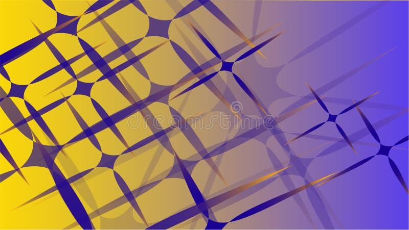 Textur från den volymetriska trendiga magin för genomskinligt blåttabstrakt begrepp av olika former av kosmiska sned stjärnor för stock illustrationer