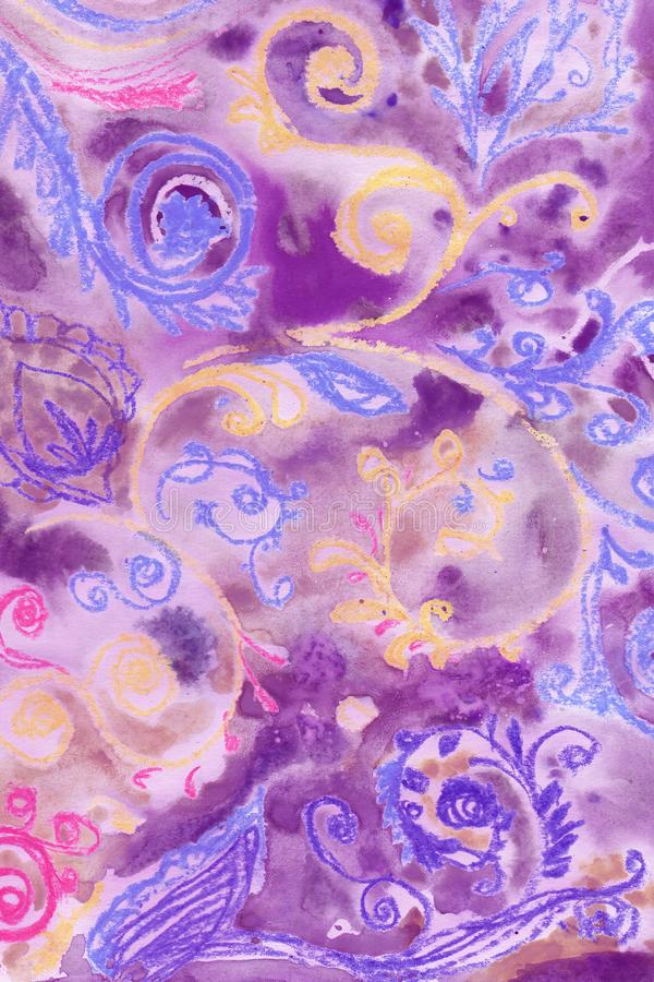 Textur,hellviolett,boho-artig, ethnisch, multicolor stockbild