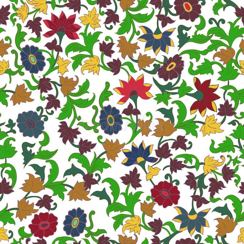 Textur i det islamiska Foral motivet. royaltyfri illustrationer