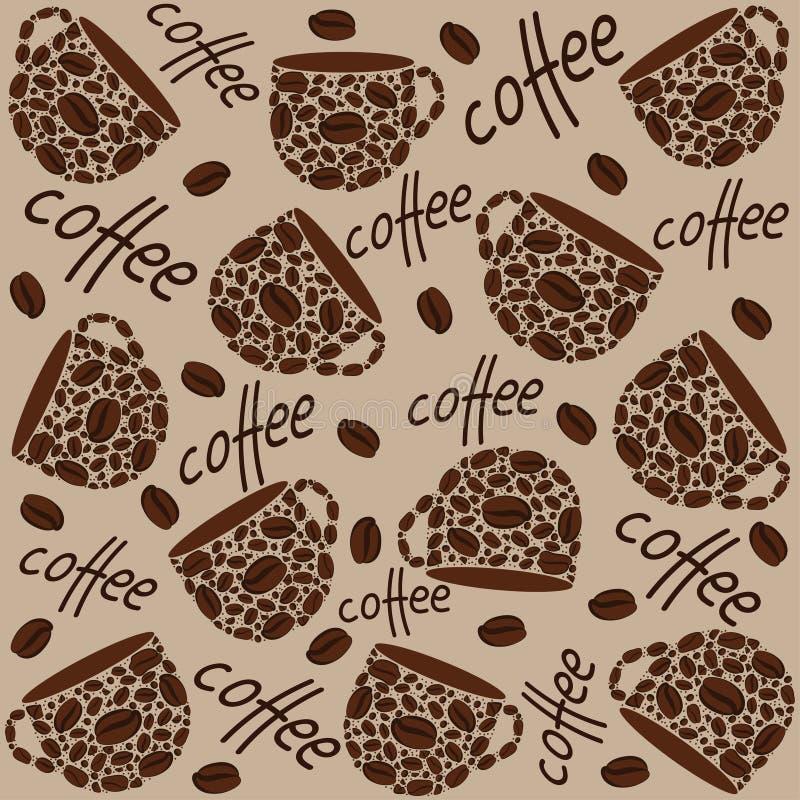 textur Kaffekoppar och orden vektor illustrationer