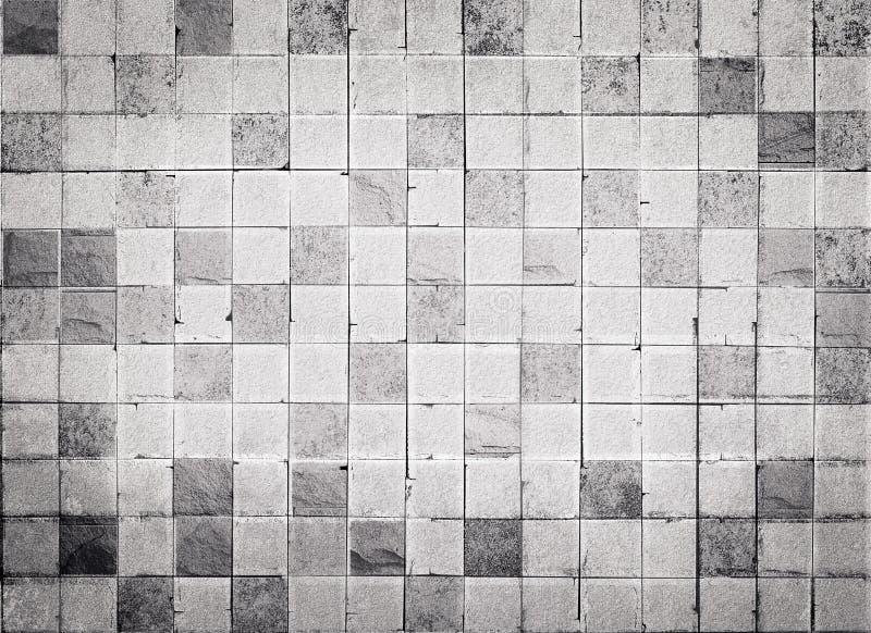 Textur och bakgrund för vägg för konkret tegelplatta för Grungestil fotografering för bildbyråer