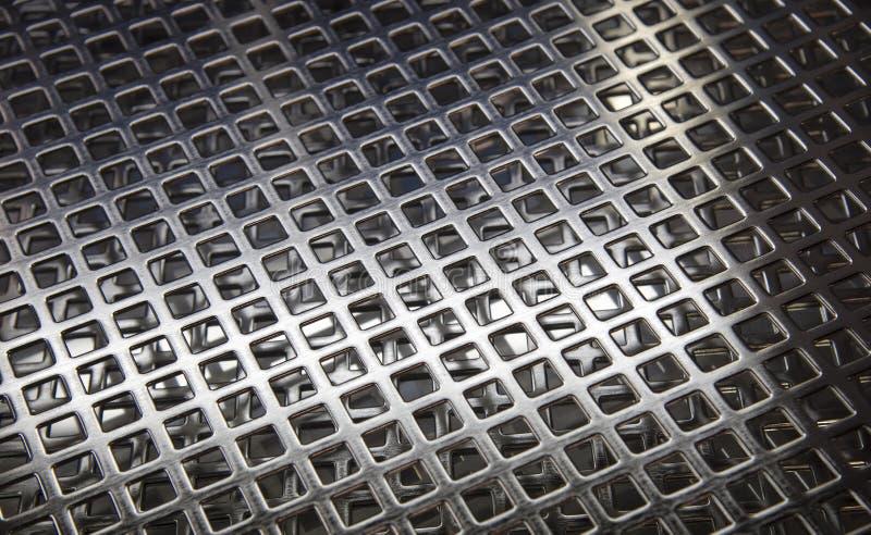 Textur som göras från rostfri skyddsgaller arkivfoto