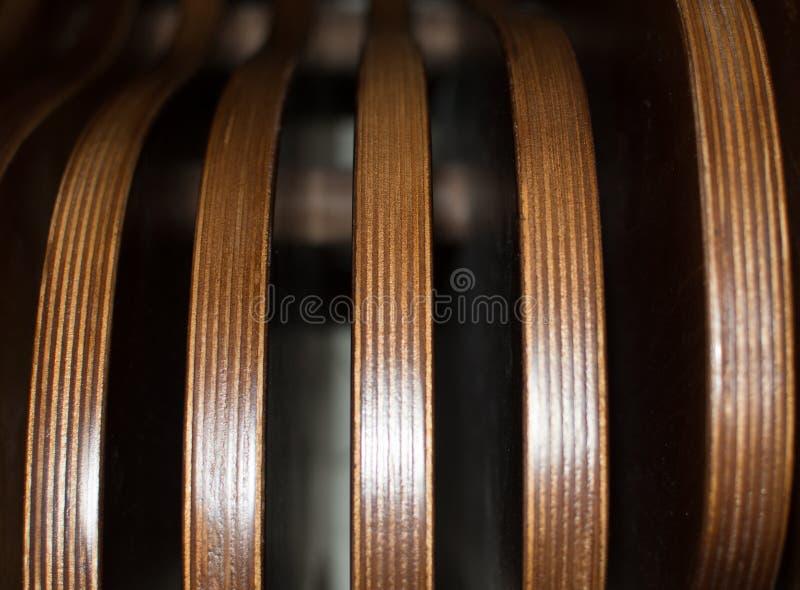 Textura à moda, marrom, banco do close-up, listrado, imagem de stock